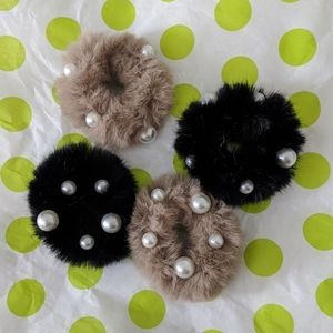 Furry ponytail holders